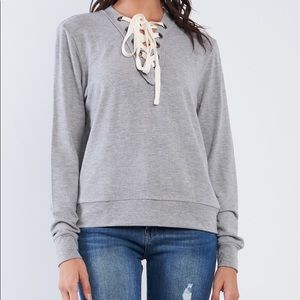 Sweaters - 🌵Casual Lace Up Top🌵